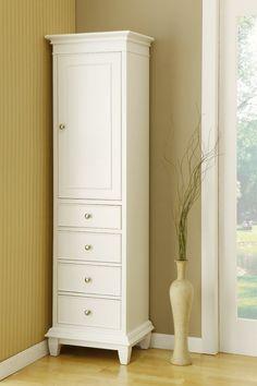 Direct Vanity Sink LT01 Freestanding Wooden Bathroom Linen Cabinet