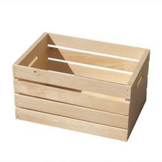 Medium Wood Crate, 94622 at The Home Depot - Mobile