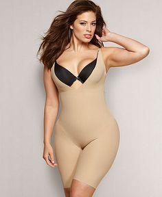 Flexees by Maidenform Plus Size Shapewear, Wear Your Own Bra Firm Control Singlet 12558 - Plus Size Shapewear - Women - Macy's