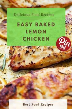 Easy Baked Lemon Chicken  Clean healthy baked lemon chook that is loaded with yummy taste and you can make in a rush with only some easy substances. I preserve a going for walks listing of recipe ideas in my cellphone and while we had been on the train going from the airport to our resort i introduced lemon bird to my menu for this week and its been inside the again of my thoughts ever seeing that.  #easycrockpotmeals #crockpotchicken #crockpotchickenrecipes #BestFood Best Chicken Recipes, Chicken Salad Recipes, Good Food, Yummy Food, Lemon Chicken, Healthy Baking, A5, Preserve, Walks