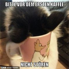 Bitte vor dem ersten Kaffee