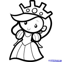 how to draw a queen for kids step templats drawing for kids Online Drawing For Kids, Best Drawing For Kids, Cute Drawings For Kids, Easy Disney Drawings, Girl Drawing Easy, Cartoon Drawings Of People, Easy Drawings For Kids, Colorful Drawings, Cool Drawings