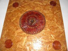 Quadro mandala de madeira feito  por artesão linda para uma decoração rustica