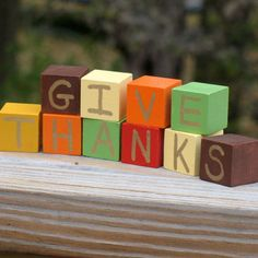 Give Thanks Blocks | Crafts | Spoonful