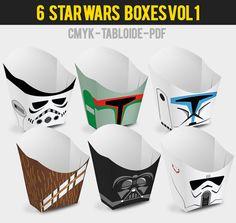 6 popcorn boîte Star Wars Vol j'ai par Migueluche sur Etsy                                                                                                                                                                                 Plus