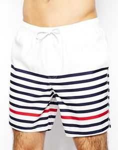 2ef5ce68c3561 ASOS Swim Shorts In Mid Length With Stripe Asos Online Shopping, Latest  Fashion Clothes,