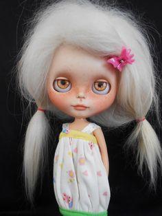 Custom Ooak RBL Blythe Doll Faceplate por Spookykidsworkshop