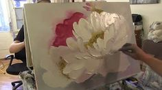 PAINTING TUTORIAL Acrylic Peony Flower Techniques | Katie Jobling Art - YouTube