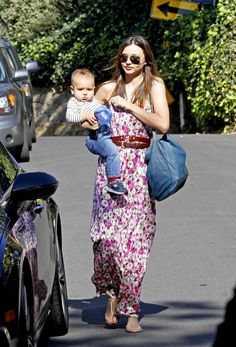 Miranda Kerr and Flynn Out for the Afternoon
