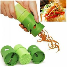 Description:The Magic Veggie Twister is the ultimate kitchen tool! This super cool twister swirls out deliciously looking and tasting vegetables and fruits! Spiral Cutter, Craftsman Kitchen, Buy Kitchen, Kitchen Stuff, Kitchen Hacks, Kitchen Ideas, Kitchen Decor, Kitchen Design, Kitchen Tools And Gadgets