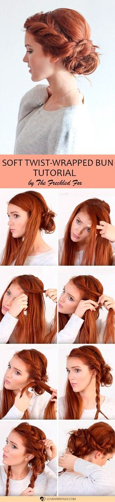 Girls who don't believe that there are easy updos that can be done at home, this article is for you! We will show you that not all the beautiful hairstyles are complicated and share with you ideas on how to style it with ease. Check out the ideas and tutorials we've prepared for you! #updos #easyhairstyles #hairtutorial