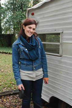 Sally Ann: DIY Infinity Scarf with French Seams