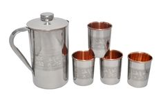 Copper Jug with 6 Glasses | IKH101055S60205 | $39.99