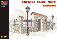 35505 1/35 French Farm Gate by Miniart. $19.78. This is the 1/35 Scale French Farm Gate from the Building and Accessories Series by MiniArt. Suitable for Ages 14 & Up. FEATURES: Highly detailed plastic pieces molded in grey A great addition to any military display French WWII posters included Illustrated instruction sheet INCLUDES: One plastic model REQUIRES: Assembly Hobby knife (RMXR6909) Plastic cement (HCAR3415) Sprue cutters (HCAR0630) Paint SPECS: Scale: 1/35 COMMENTS: Due ...