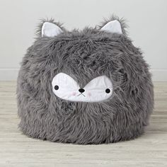 Furry Wolf Bean Bag Chair   The Land of Nod
