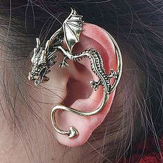 Women's Stud Earrings Ear Cuffs Personalized Unique Design Vintage Alloy Dragon Jewelry For Party Daily 2018 - $0.99