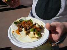 Taco de Filete with Cascabel Pepper Sauce and Scallions Served on a Flour Tortilla @Abu mnsar Saad and wine Festival 2012