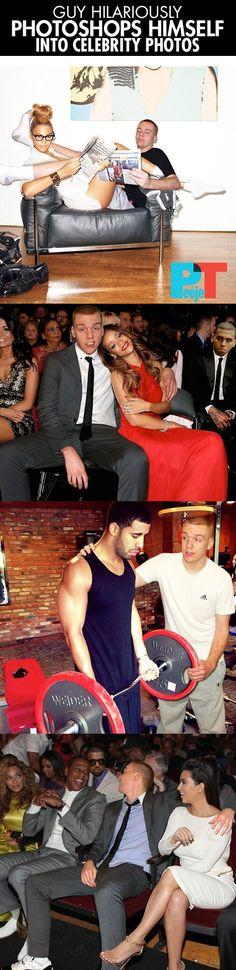 Guy photoshops himself into celebrity photos