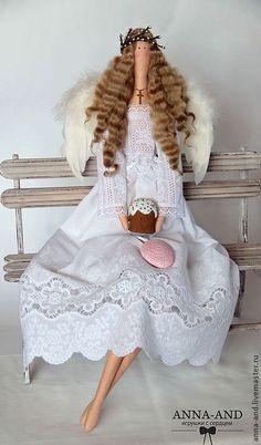 Куклы Тильды ручной работы. Ярмарка Мастеров - ручная работа 70 см! Ангел Воскресения Христова. Handmade.