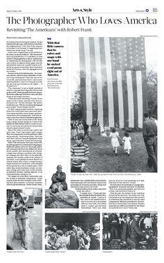 The Photographer Who Loves America|The Epoch Times #RobertFrank #Photography #newspaper #editorialdesign