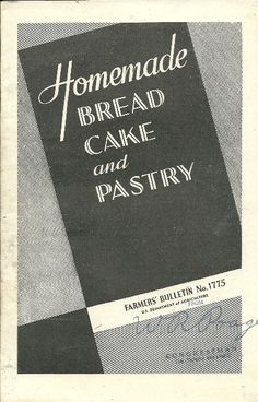1940's Homemade Bread Cake and Pastry Farmers by TheIDconnection, $10.00