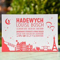 Geboortekaartje Hadewych - Letterpers.nl