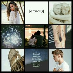 Percy Jackson characters Aesthetics Jason Grace and Piper McLean by Camy Malfoy