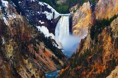 Yellowstone's Lower Falls as seen from Artist Point