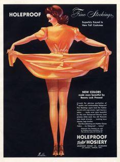 Holeproof stockings advertisement, 1940 Merlin Enabnit