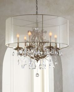 John-Richard Collection Veiled Shade Chandelier traditional chandeliers