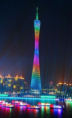 Guangzhou, mi casa! Esta misma vista tenía todas las noches desde la puerta norte de mi universidad !