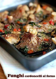Funghi cardoncelli al forno ~ fiordizucca - cibo, ricette, viaggi, travel, recipes, food, italian and international