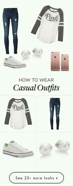 #university #outfit #casual #converse