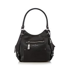 J by Jasper Conran Designer black zipped pocket hobo bag- at Debenhams.com