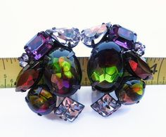 Schreiner Fruit Salad Rhinestone Clip On by SheerTrashRoadshow