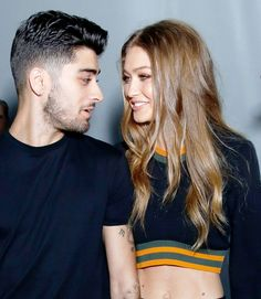 Gigi Hadid and Zayn Malik are posting adorable photos of themselves at London Fashion Week.