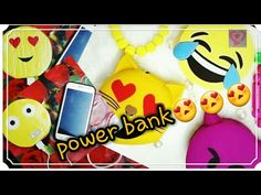 YouTube Diy smiley power bank .. easy and cute...