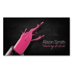 100 best makeup artist business cards images on pinterest makeup makeup artistpink lipstick business card colourmoves