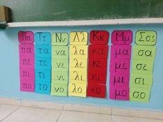 Learn Greek, Grammar Exercises, Class Dojo, Material Board, Greek Language, Greek Alphabet, Syllable, School Psychology, Occupational Therapy