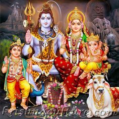Amazon.com - Shiva Family Portrait Canvas Art -