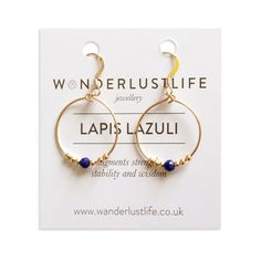 wanderlust life lapis lazuli cairo mini hoops  www.wanderlustlife.co.uk