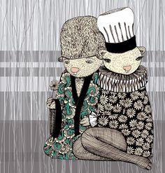 Happy when it rains Art Print