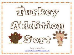 Heather's Heart: Gobble Up Some Addition Fun