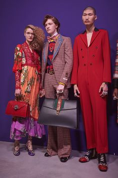 Backstage at the Gucci Fall Winter 2017 Fashion Show. bag, сумки модные брендовые, bag lovers,bloghandbags.blogspot.com
