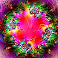 'Heart of Pure Love' by Brian Exton Purple Wallpaper Iphone, Flower Phone Wallpaper, Heart Wallpaper, Love Wallpaper, Bright Colors Art, Cute Love Pictures, Beautiful Pictures, Hello Kitty, Good Night Moon