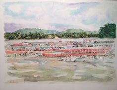 Canoas en Venado Acuarela  (30 cm x 23 cm) Cómpralo en #MambeShop por $330.000