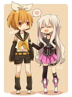 Kagerou Project & Vocaloid crossover - Momo as Rin Kagamine & Mary as IA (*^_^*)