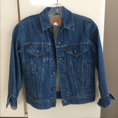 Levi's Denim Vintage Jacket Levi Denim Jacket . Excellent condition. Size 14.  Fits like adult small.size 2/4. They don't make em like this any more  Levi's Jackets & Coats Jean Jackets