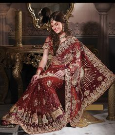 Indian Designer Bridal Saree $1530