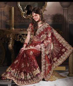 Indian Designer Bridal Saree $1530